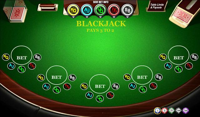 SideBet Blackjack hry